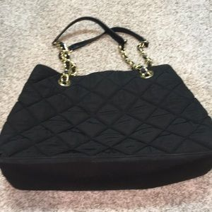 Talbots black quilted purse